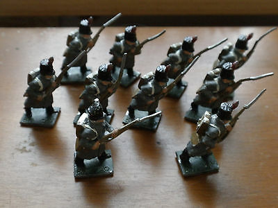 Lot 2 Of Huge Collection Of Hand Painted Metal Napoleonic Soldiers