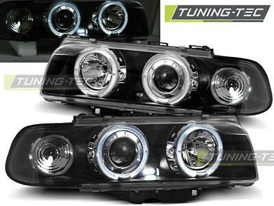 Coppia Fari Anteriori Bmw E38 06.94-08.98 Angel Eyes Black