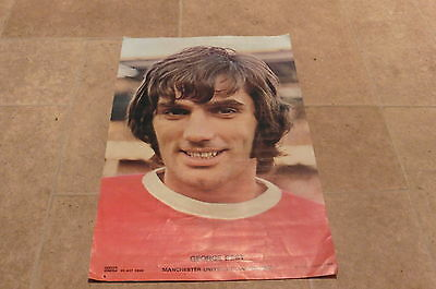 1970s Coffer George Best Large Poster 18 x 12 Manchester United