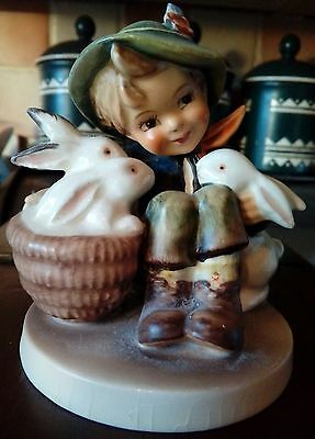 Hummel Figurine boy with rabbits