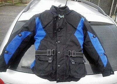textile motorcycle jacket child's size xl