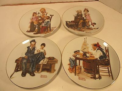 "VINTAGE NORMAN ROCKWELL 1982 ""Beloved Classics"" (4) PLATES"