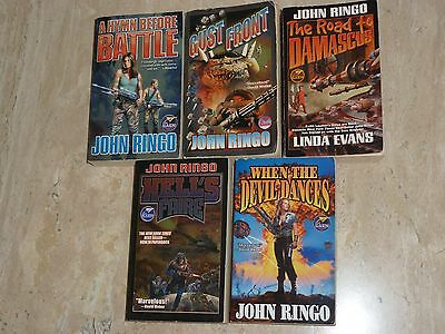 5 BOOKS by JOHN RINGO – WHEN THE DEVIL DANCES, HELL'S FAIRE, GUST FRONT, & MORE