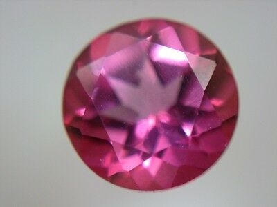 PINK TOPAS  -  ROUND FACET  -  7 mm  -  1,25 ct.
