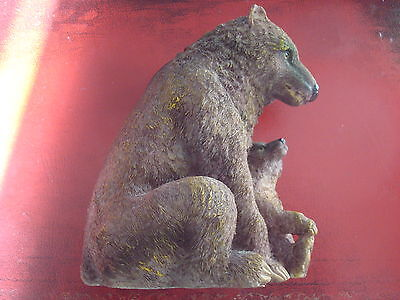 Money Box Figure - Bear With Young - Excellent Condition