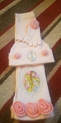 disney store hat scarf and gloves set