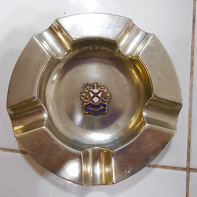 RMS Araguaya 1906 captains stateroom ashtray silver or plated