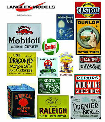 Workshop Adverts large. Paper Reproductions Old Enamel Decals O Scale SMF26n