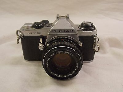 Pentax ME Super SLR Film Camera w/ Asahi 50mm 1:2 Lens