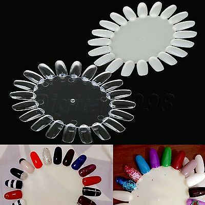 10pcs 20 Colors Nail Polish Tips Display Practice Oval Wheels Nail Art Card Tool