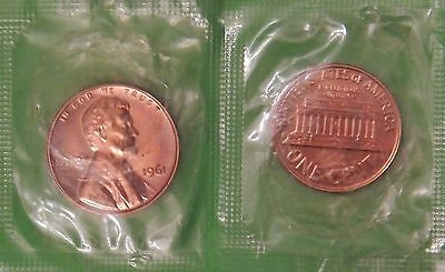 1964 US (Philadelphia Mint) Lincoln Penny Sealed in Cellophane Maybe Toned