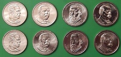 2012 US Presidential Dollar Set 4 P&4 D From Mint Rolls