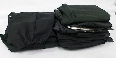 13 x Black Waterproof Overproof Trousers Black
