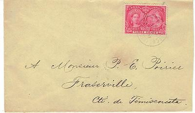 1897 Quebec & Lake St.John, Que. RPO Cancel on 3c Jubilee Cover to Fraserville