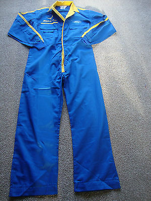 """Bn Ford Rapid Fit Technicians Boilersuit Overalls 42"""" Ch Short  Navy/yellow"""