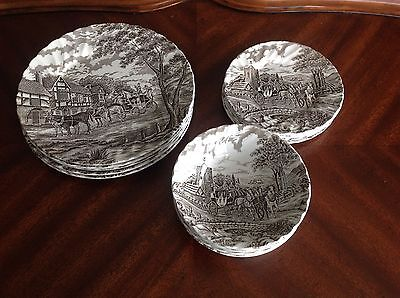 Myott Royal Mail Set of 5 Dinner Dessert Plate Bowl Fine Staffordshire England
