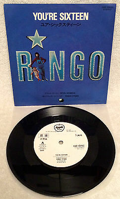 "Ringo Starr ""you're Sixteen"" Ultra-Rare Original Japanese Wlp Promo Single W/ps!"