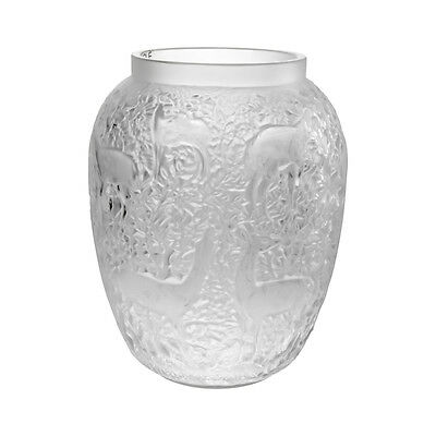 Lalique Biches Deer Clear Crystal Vase 1232010