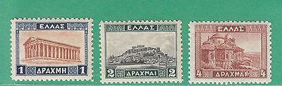 Greece 1927 3 Stamps Very Light Mint Hinged
