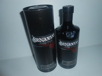 EMPTY BROCKMANS GIN BOTTLE 70cl - boxed / 5***** CONDITIONS - SEE PHOTOS