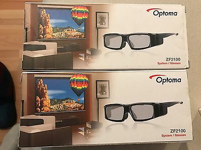 Optoma ZF2100 System Pack De 2 Gafas 3D Para Proyector Con Emisor
