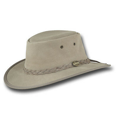 Barmah Hats Foldaway Cattle Suede Leather Hat - Item 1061