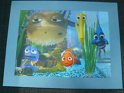 Walt Disney Finding Nemo  (Double Sided )  Lithograph With Envelope
