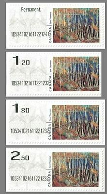 Canada 2016 Experimental Kiosk Computer Generated Postage Vending Coils 4 Rates
