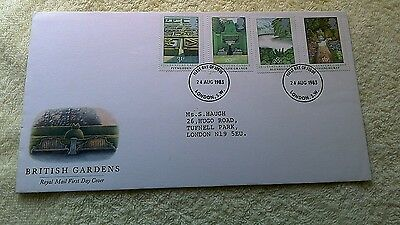 BRITISH GARDENS FIRST DAY COVER 1983 London   C11