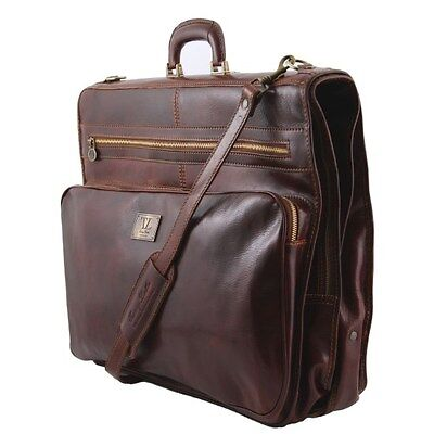 Italian Leather Garment Carrier, Suit Bag ~ The Papeete From Tuscany Leather