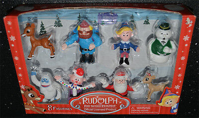 Rudolph The Rednosed Reindeer Official Licesed 8 Figurines NIB