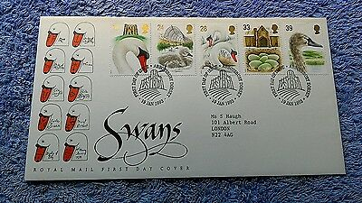 SWANS FIRST DAY COVER 1993 Abbotsbury     C14