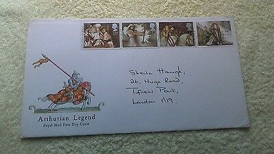 Arthurian Legend First Day Cover 1985 Unfranked     C14