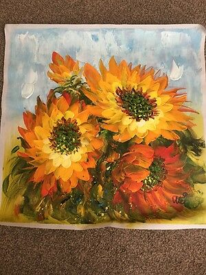 Beautiful Flower Oil Painting On Canvas Signed  By The Artist Wei