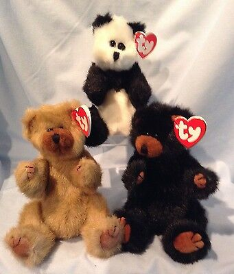 Ty Attic Treasures Bears Lot of 3 Bears Ivan Cody Checkers 1993 3+ Boy Girl $16