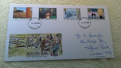 INDUSTRY YEAR FIRST DAY COVER 1986 London     C16