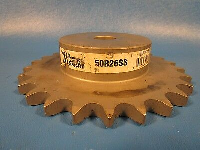 "Martin 60B26SS, 60B26 SS,Type B & C - 3/4"" Reborable, Steel Sprocket"