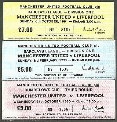 MANCHESTER UNITED v LIVERPOOL - TICKET COLLECTION - POSTFREE
