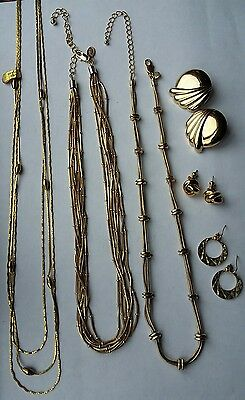Joblot Of Gold Chain Jewellery (Gold Plated,m & S)