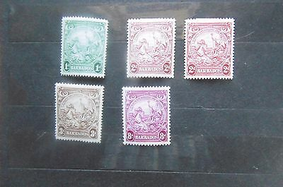 Barbados 1938 part set to 8d MH