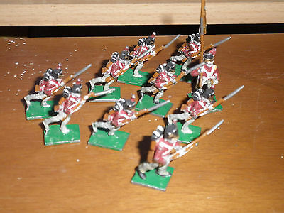 Lot 13 Of Huge Collection Of Hand Painted Metal Napoleonic Soldiers