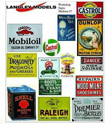 Workshop Adverts Small Paper Reproductions old Enamel Signs N Scale 1:148 SMF28n