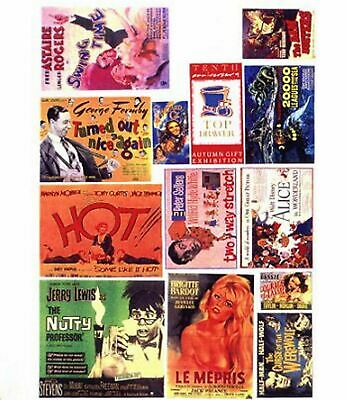 Cinema Theatre posters Small Paper Copies old Enamel Decals N Scale SMF43