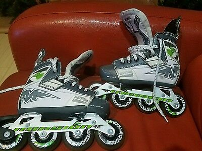 Adjustable Inline Roller Mission Hockey Skates  Kids Sizes  Y10 - Y13 Mission
