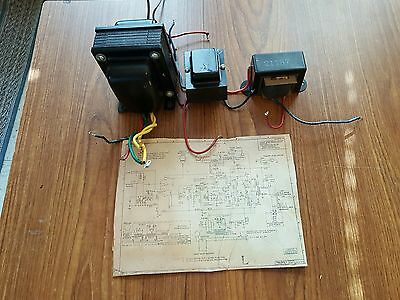 Power & Output Transformer For Pp 6Aq5 / 12Ax7 / 5Y3 Tubes With Schematics