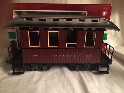 "LGB 36063 Santa Fe Dodge City ""360"" G Gauge Coach Car New in Box."