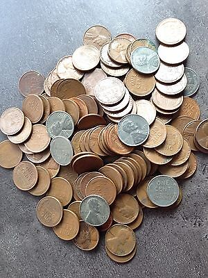 USA Lot 100 Wheat Cents gemischte Jahre 1909 - 1958 P D S VDB Steel Kupfer