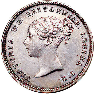 Victoria. Fourpence (groat). 1869.   Extremely Fine..  6324.