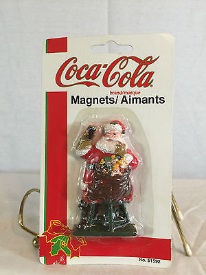 COCA-COLA, Collectibles, MAGNETS /  LOT OF 3 TOTAL! Santa, Santa with tree, lid