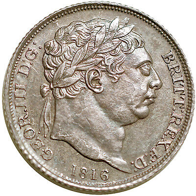 George III. Sixpence. 1816.   Uncirculated..  7070.